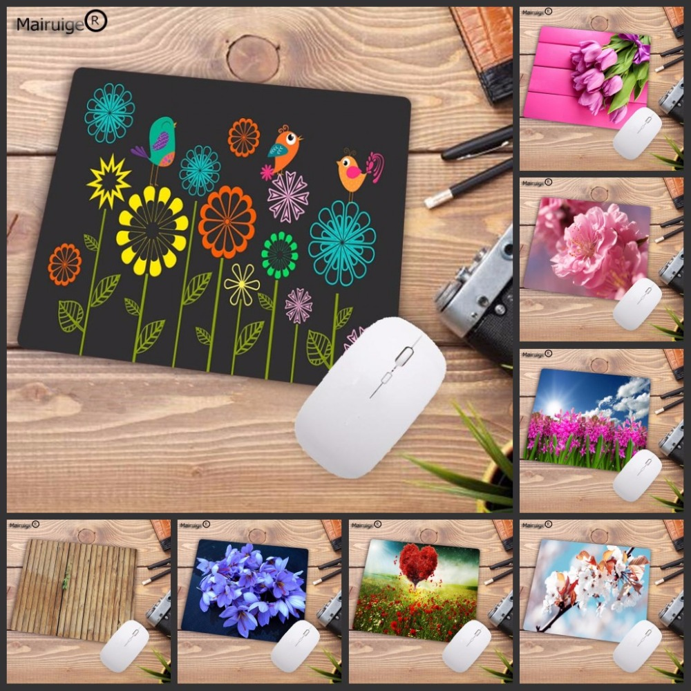 Mairuige Big Promotion Blooming Flowers Waterproof Mouse Pads Computer Keyboard Gaming Small Size Mouse Mat 180mmX220mmx2mm