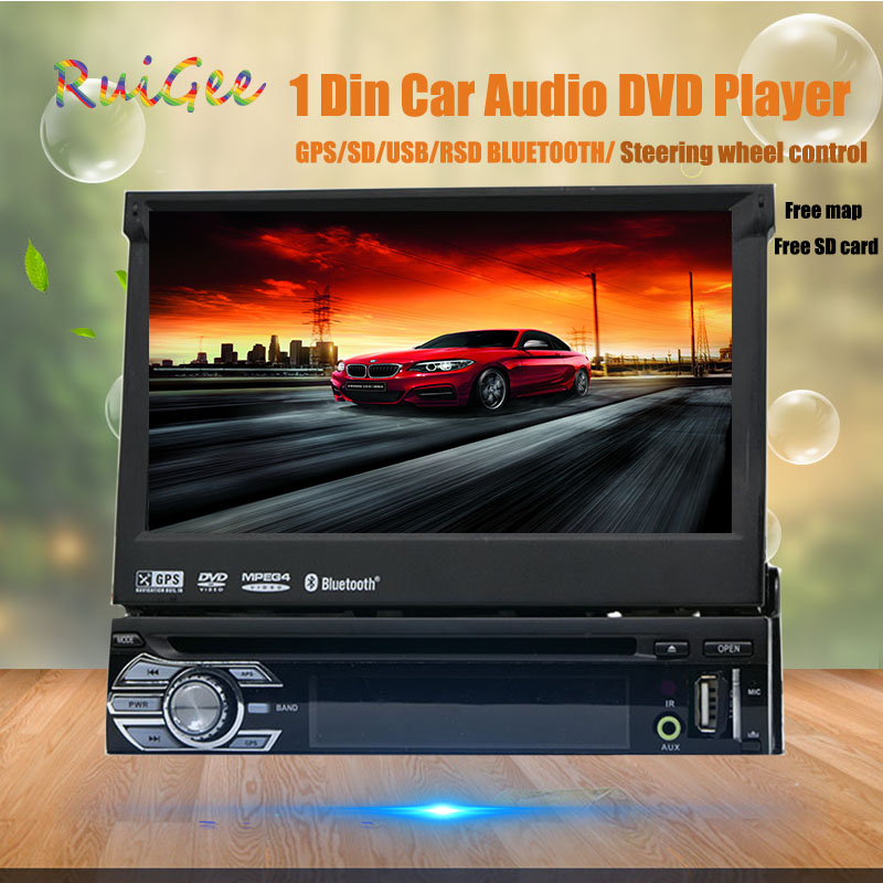 1 Din Radio Car Dvd Player Gps Navigation Tape Recorder Autoradio Cassette Player For Car Radio Steering-wheel Car Multimedia image