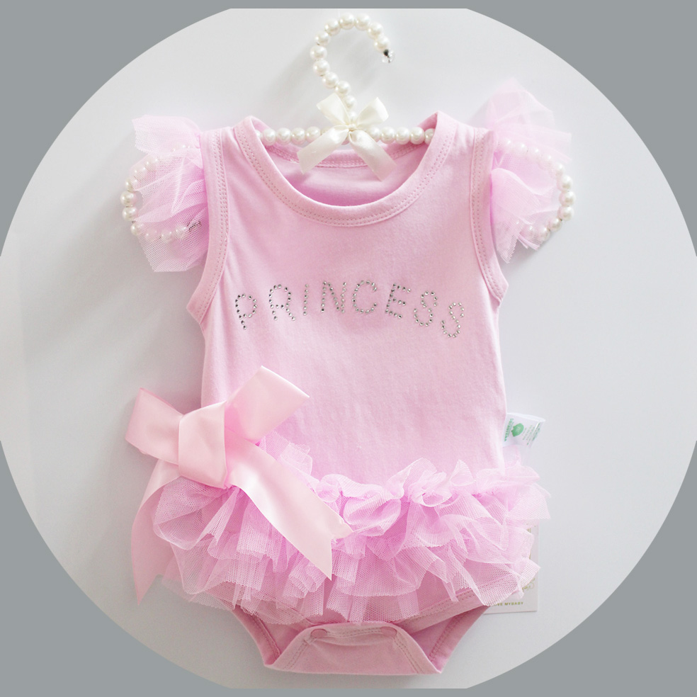 Summer Cotton Baby Rompers Infant Toddler Jumpsuit Princess Pink Bow Lace Baby Girl Boy Clothing Newborn Bebe Overall Clothes cotton baby rompers infant toddler jumpsuit lace collar short sleeve baby girl clothing newborn bebe overall clothes