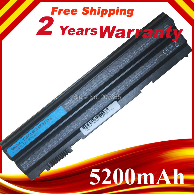 6cell HXVW 8858X Battery For Dell Latitude E5420 E5430 E6420 E6430 E6520 E5530 M5Y0X HCJWT T54FJ 911MD 4YRJH PRRRF KJ321 11 1v 97wh original laptop battery for dell latitude e6420 e5420 e6430 6520 free shipping t54fj 8858x bateria e6420