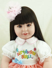 55cm Realistic Vinyl Reborn Dolls Toddler Dolls Brinquedos Boutique Gift Handmade Cotton Body Boneca Reborn Realista Juguetes