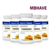 5 Bottles Turmeric 5 40 Caps Contains Beneficial Antioxidants