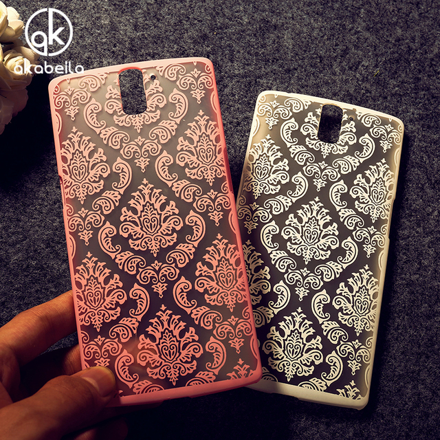 AKABEILA Cases Covers For OnePlus One Case OnePlus1 OnePlus A0001 A1000 A1001 Hollow Flower Plastic  Bags Skin Hood Shell Case