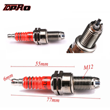 TDPRO Spark Plug Moped Scooter ATV Quad 3 Electrode Ignition Sparking Plugs For 125cc 150cc 200cc CF250 CH250 Engine Dirt Bike