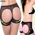 hot sales sexy mesh push up panty exposed buttocks women underwear shapewear wholesale