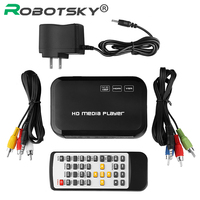 New Digital USB Full HD 1080P HDD Media Player HDMI VGA SD MMC Support DIVX AVI