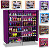 ФОТО Free Shipping Non-woven fabrics shoe rack double row and 6 layers shoe cabinet for living room shelf to shoe shoe storage HS-13