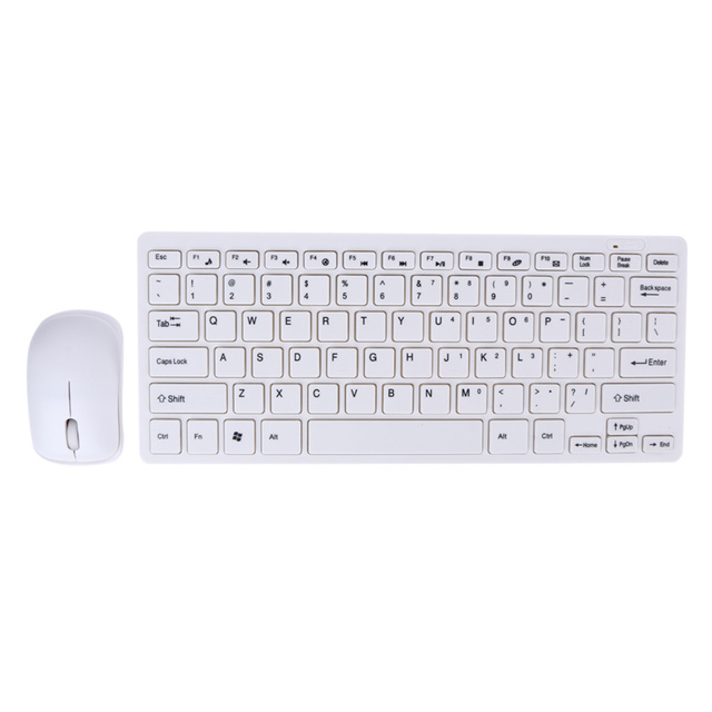 87062272b11 Ultra Thin 2.4GHz Wireless Keyboard + Cover and Wireless Mouse Kit for  Desktop Laptop