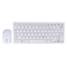 Professional Ultra Thin 2.4GHz Wireless Keyboard + Cover and Wireless Mouse Kit for Desktop Laptop Home Office(China)