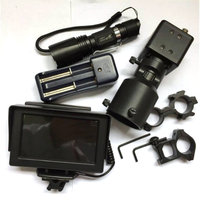 Hot DIY Night Vision Scope for Hunting Rifle Scope W/ LCD Monitor and IR Torch