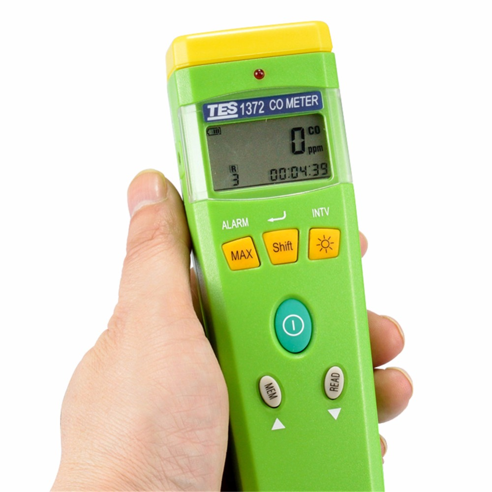 TES-1372R Digital CO Meter/ Carbon Monoxide Meter / Portable CO Gas Detector 0-999 ppm