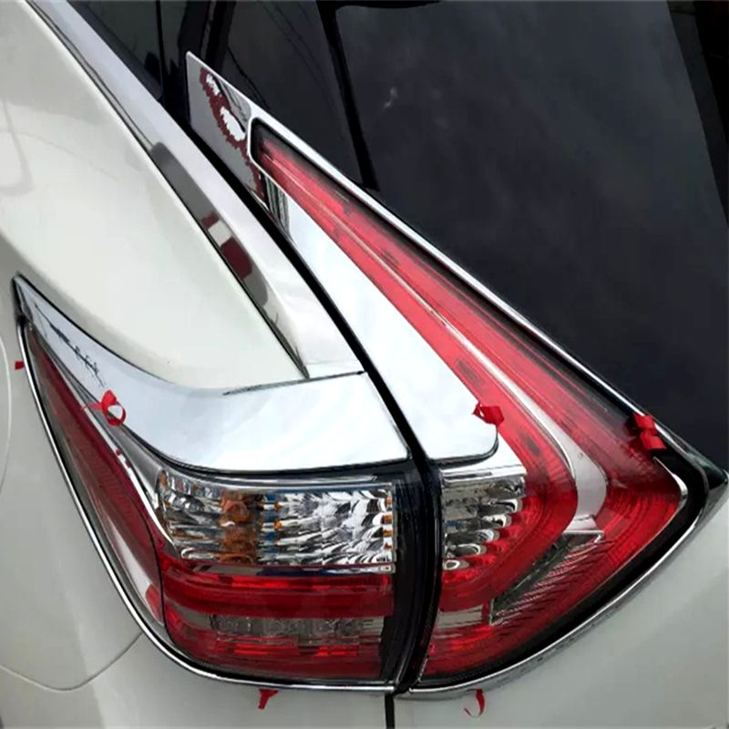 For Nissan Murano 2015 2016 4pcs Rear Tail Light Lamp Cover Trim Molding Bezel Protecors ABS Chrome Car Accessories