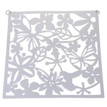 Fashion 4 Pcs Butterfly Bird Flower Hanging Screen Partition Divider Panel Room Curtain Home Decor White