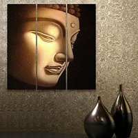 Kind Buddha Head Modern Canvas Oil Painting Fashion Retro Hand Made Buddha Wall Art Canvas Painting