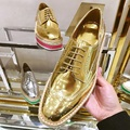 Fashion British Style Golden Straw Bottomed Leather Platform Shoes Carved Bullock Oxfords Shoes For Women Silver Flat Footwear