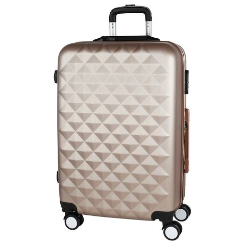 [Available from 10.11]Stylish beige suitcase PROFFI TRAVEL PH8645 beige, M plastic with built-in weights medium stylish straight tail adduction synthetic medium mixed color side parting adiors wig for women