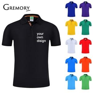 2019 تصميم العلامة التجارية الخاصة بك شعار/الصورة الأبيض مخصص الرجال والنساء قمصان بولو زائد حجم قميص بولو الرجال الملابس