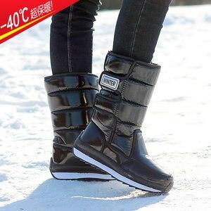 Image 2 - ผู้หญิงรองเท้ากันน้ำฤดูหนาวรองเท้าผู้หญิงแพลตฟอร์มSnow Boots Keep Warmกลางฤดูหนาวหนาขนสัตว์ส้นbotas Mujer