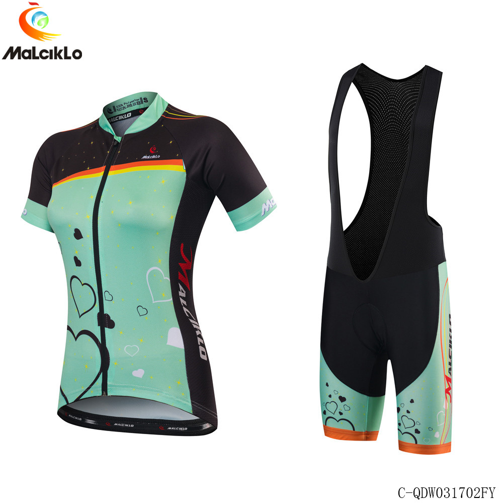 Malciklo 2017 New Summer Women MTB Bike Cycling Clothing Breathable Bicycle Clothes Ropa Ciclismo Maillot UV Cycling Jersey Set