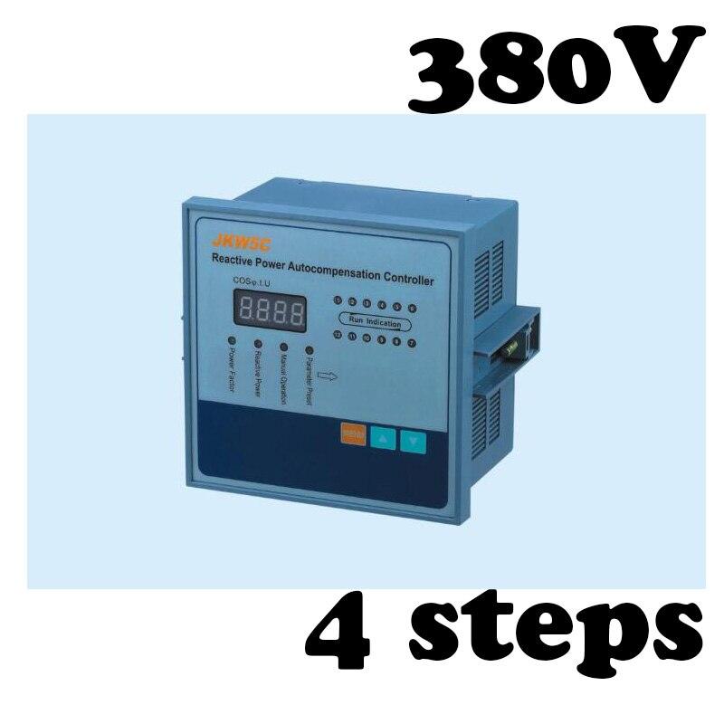 JKW5C-4 regulador de fator de potência controlador 4 passo 380 v potência Reativa controlador automático de compensação
