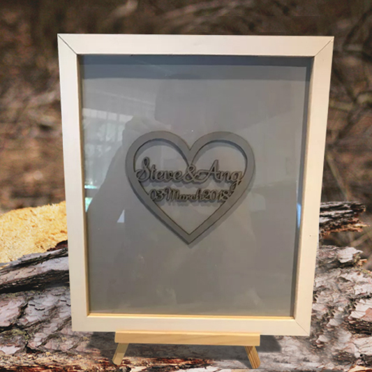 Wedding Signature Frame Big Heart Customized Name Date Wedding