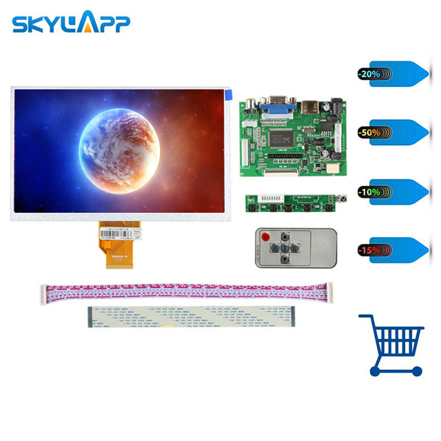 Skylarpu 7''inch LCD for INNOLUX Raspberry Pi LCD Screen TFT LCD Monitor AT070TN92 + Kit HDMI VGA Input Driver Board (NO touch)