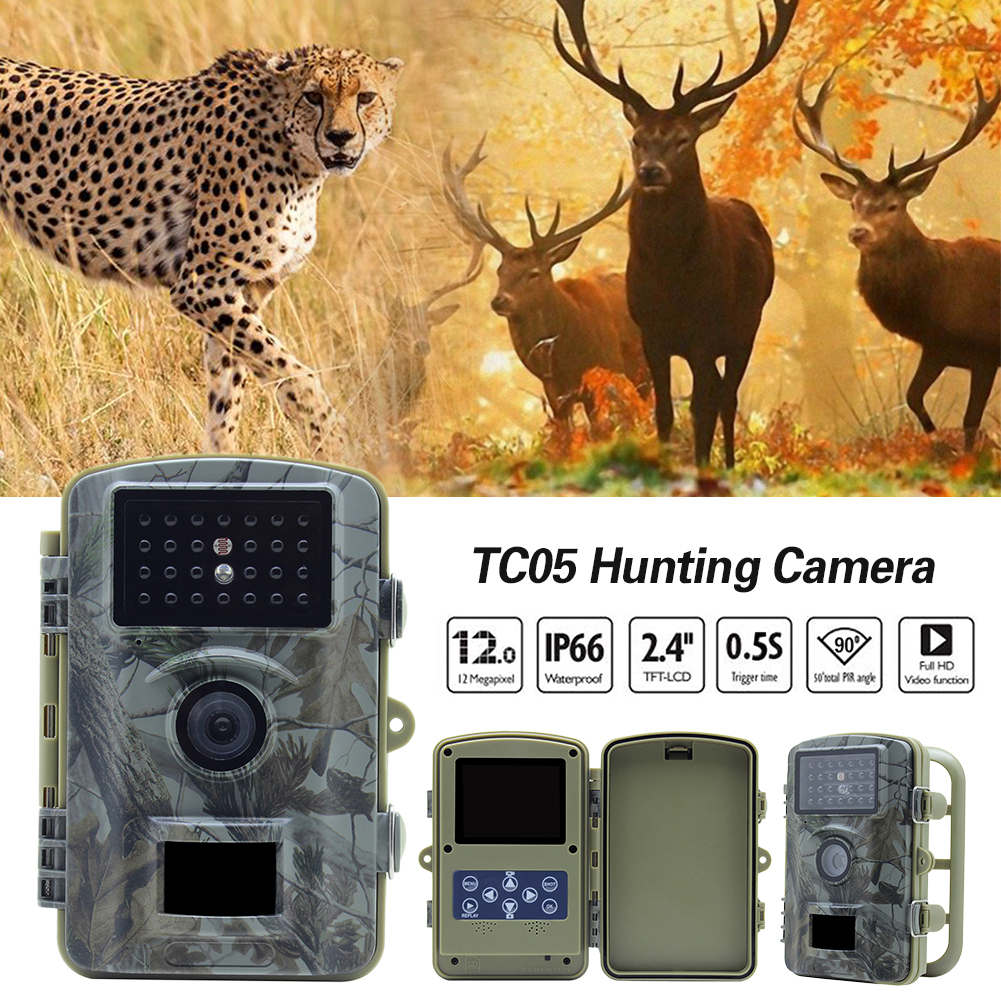 TC05 Outdoor Waterproof Hunting Camera Wireless 720P IR Night Vision Surveillance Wildlife Trail CameraTC05 Outdoor Waterproof Hunting Camera Wireless 720P IR Night Vision Surveillance Wildlife Trail Camera