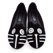 2016 Dog Cat Comfortable Flat Shoes Kawaii Girl Women Casual Cartoon Suede Soft Shoes Women Casual Flat Shoes Alpargatas Loafers