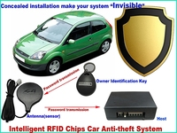 rfid immobilizer security alarm invisible hidden automotive anti theft systems engine /gas switched off protect alert for car
