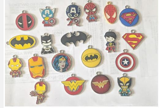 mix color 500pcs anime cartoon game go 3 design Enamel Metal Charm Pendants DIY Jewelry Making