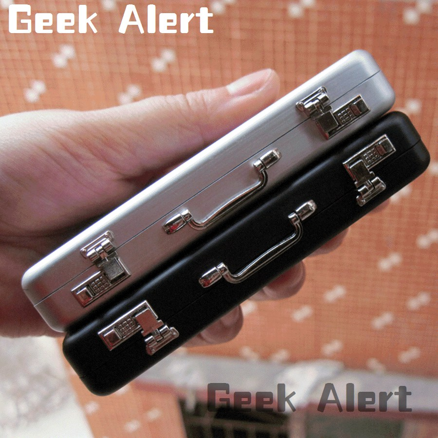 Briefcase business card holder image collections business card geeky business card holder gallery card design and card template modern geek business card holder crest colourmoves
