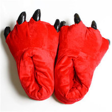 New Paw Slippers Funny Animal Slippers for men and women Winter Monster Claw Plush Home slipper soft indoor floor shoes pantufa