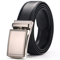 Men Brown Genuine Leather Belt Automatic Buckle Designer Belts High Quality Formal Solid Jeans Waist Dress