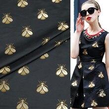 1Meter Brocade Jacquard Fabric High Density Bee 62 330G/M Polyester Material Sew On Women Dress Coat Patchwork Zakka
