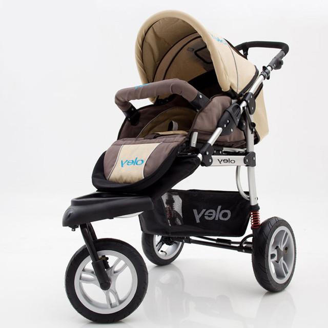 2016 Novo Alumínio de Alta Paisagem Carrinho de Bebê Portátil À Prova de Choque de Carro Do Bebê Dobrável carrinho de Bebê Triciclo 3 Rodas Carrinhos para Recém-nascidos C01