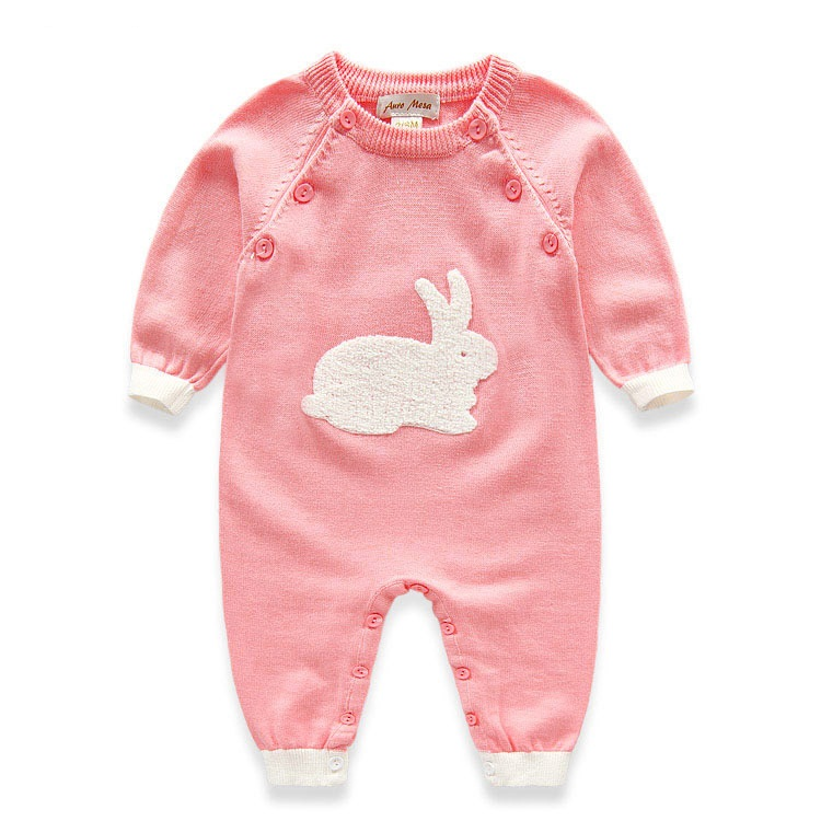 Baby Rompers Lovely Rabbit Baby Knitted Rompers Newborn Creepers Clothes Baby Girl Romper Baby Body Jumpsuit  Kids Clothing newborn baby rompers baby clothing 100% cotton infant jumpsuit ropa bebe long sleeve girl boys rompers costumes baby romper
