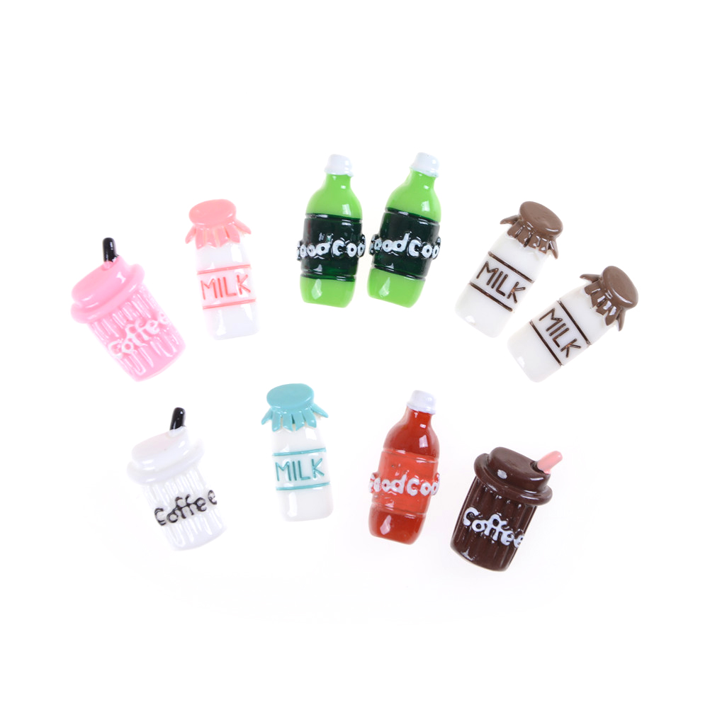 5Pcs 1:12 scale Cute Clear Bottle Simulation Mini Milk Bottle Feeding bottles TS