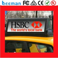 Leeman Moving Advertising panel taxi led top light P6 Taxi Top LED Display / 768mm*96mm / LED For Text Dipslay Car
