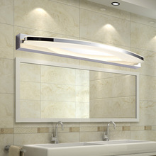 Modern Bathroom Led Mirror Light Acrylic Lampshade Wall Lamp Stainless Steel Sconce Home Indoor Lighting Wall Light 110-240V ark light free shipping modern 40cm led 14w led modern acrylic wall lamp bathroom mirror light white wall sconce
