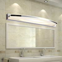 Modern 12W / 20W Led Bathroom Mirror Light Acrylic Lampshade Wall Lamp Stainless Steel Sconce Home Lighting 170 240V
