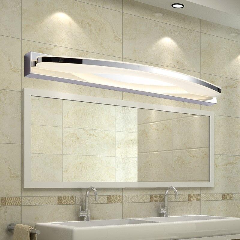 Moderne 12 watt/20 watt Led Bad Spiegel Licht Acryl Lampenschirm Wand Lampe Edelstahl Leuchte Hause Beleuchtung 170 -240 v
