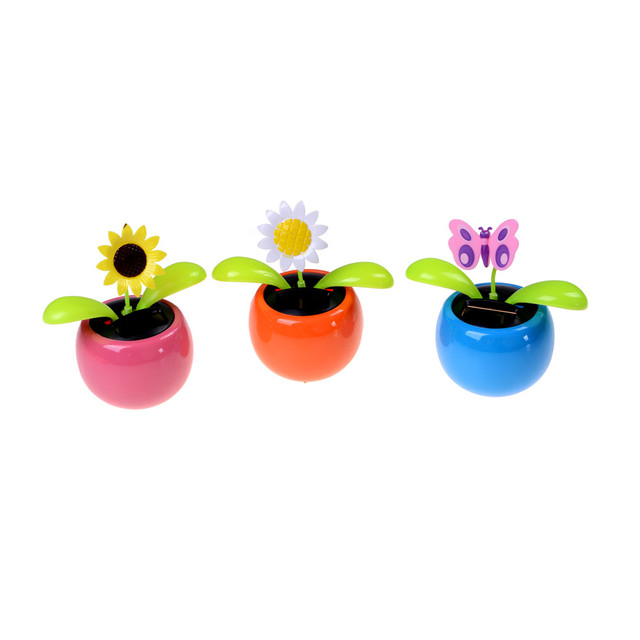 7af4baab2 Hot Sale Solar Powered Flip Flap Dancing Flower For Car Decor Automatic Dancing  Flower Toy Gift