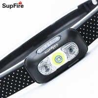 Linterna de Cabeza Supfire Linterna USB Linterna LED Cabeza Linterna de Cabeza Linterna hoofdlight Linterna HL05 para camión de Nitecore S112