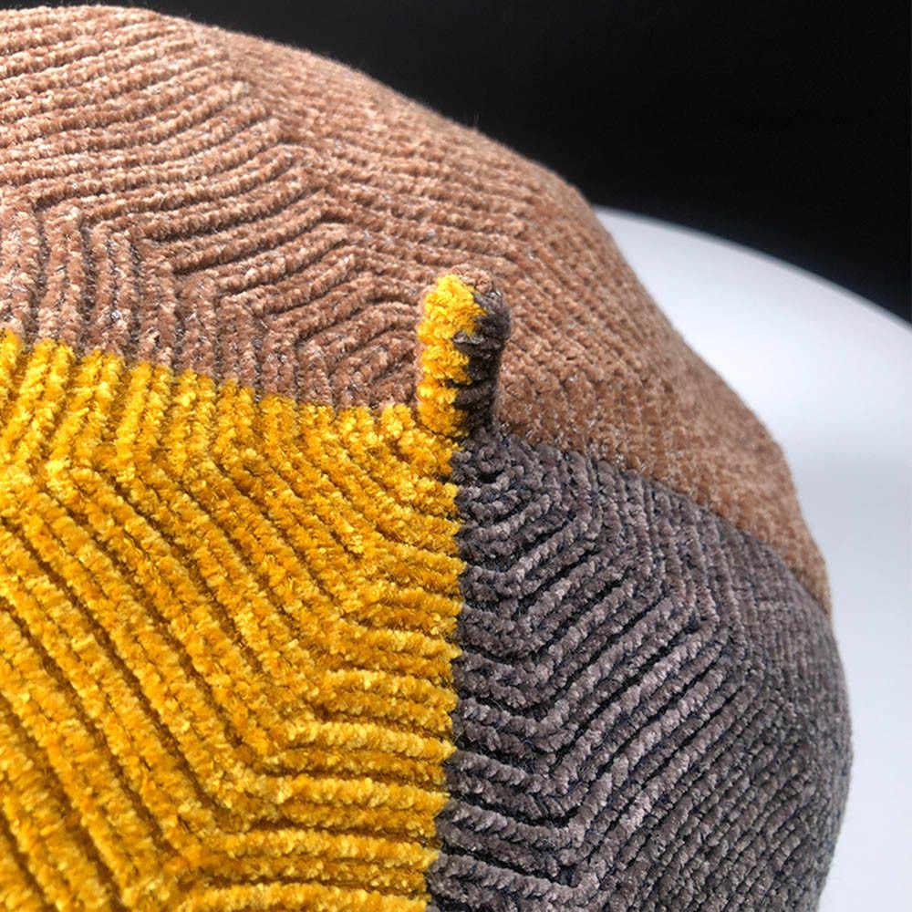 Мода очарование конфеты цвет зимняя теплая шерсть женский берет французский художник Шапка-бини Кепки для Женская мода Аксессуары подарки для леди