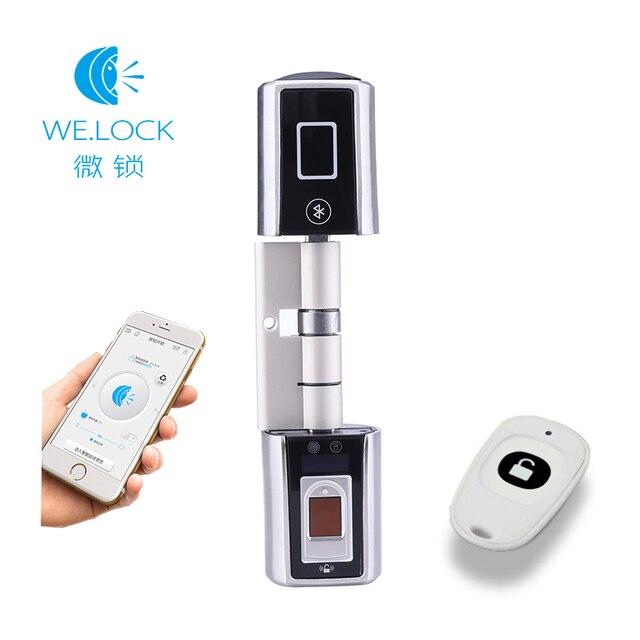 2020 חדש עיצוב L5SR Plus בית אינטליגנטי חכם צילינדר Bluetooth אלקטרוני טביעות אצבע צילינדר דיגיטלי מנעול דלת
