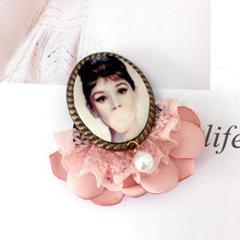 цена на CX-Shirling Camellia Letter 5 Brooch Pin Cute Cup Bird Eye Pineapple Brooches Jewelry Hijab Pin For Collar Suit Scarf Decoration