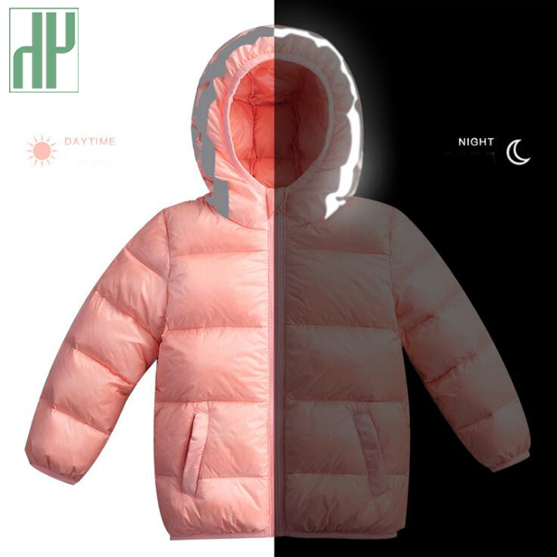 HH 80-130cm Kids winter jacket for Boys duck Down Jackets Coats Warm children coat Infant baby girls parka Hooded Outerwear