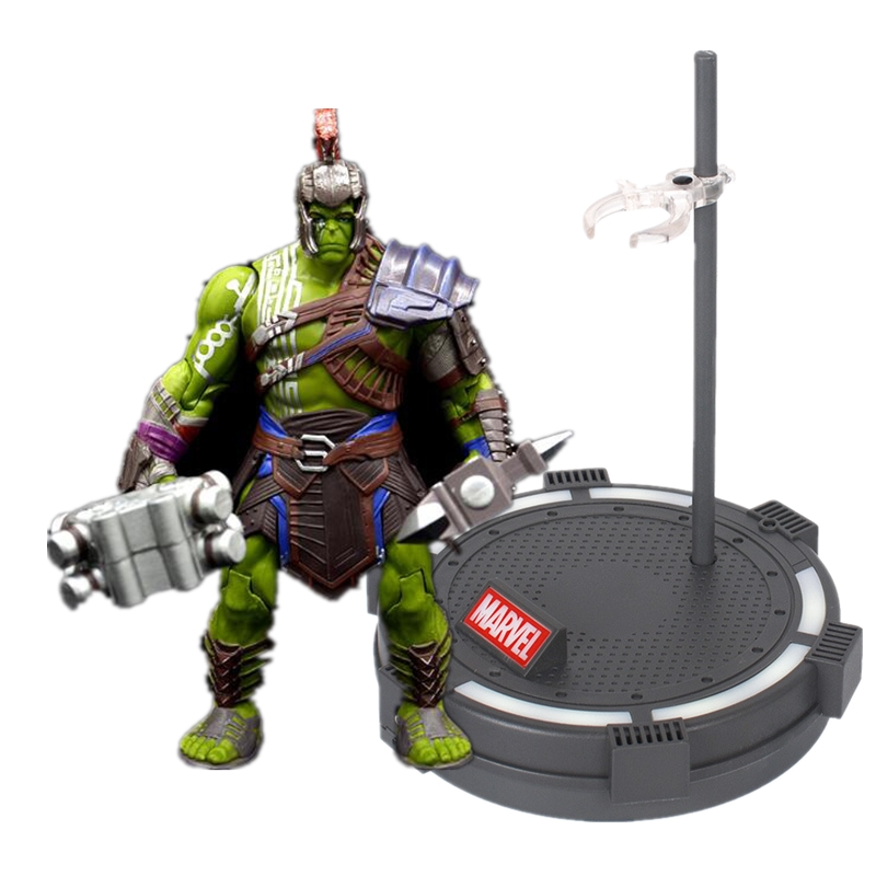 20CM Thor 3 Ragnarok Hulk Robert Bruce Banner PVC Action Figure Collectible Model Toy With Lighting Base Stand
