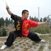 Wushu Tai Chi Uniform Black and Red