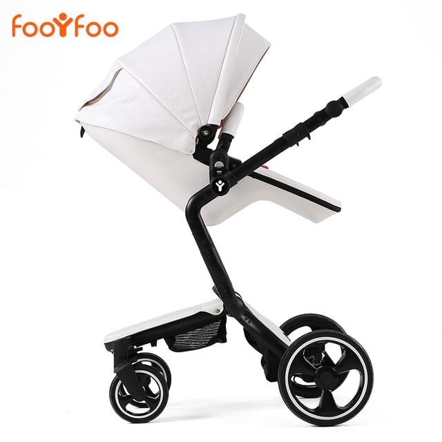 Роскошь высокая пейзаж противоударный детская коляска может сидеть и лежать детская коляска лето двусторонняя